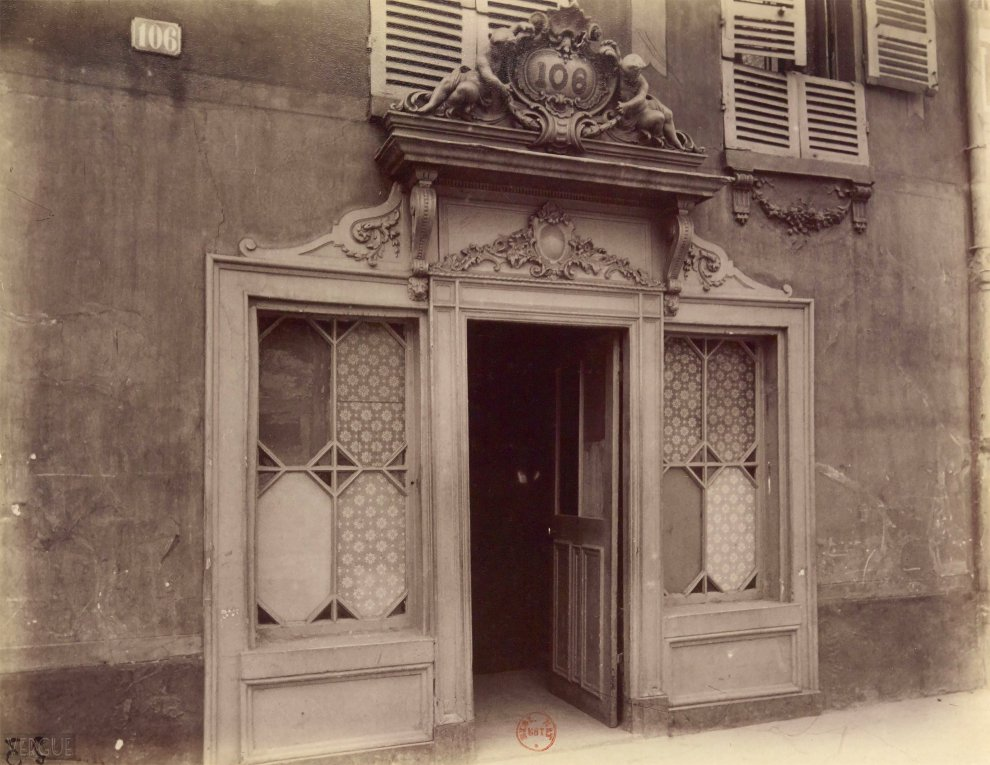 Entrée d'une maison close, 106, avenue de Suffren Paris XV e