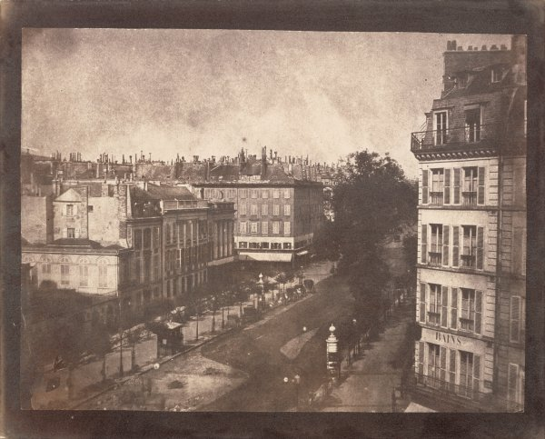 Talbot : View of the Boulevards of Paris, 1843