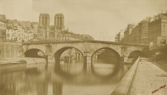 Ancien pont Saint-Michel, 1857