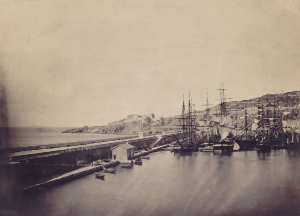 Môle Saint-Louis, port de Sète, 1857