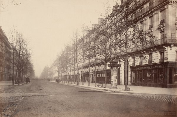 Charles Marville : boulevard Malesherbes
