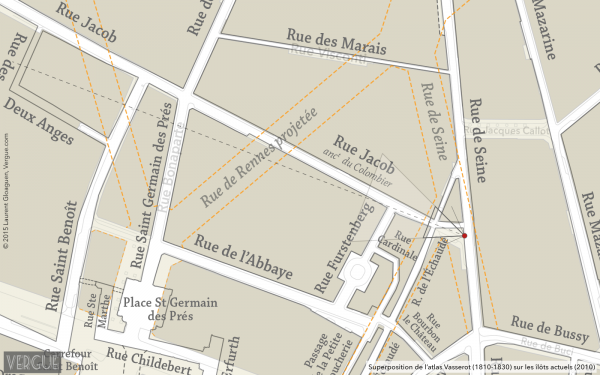 Plan rue Jacob