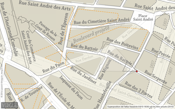 Plan rue Serpente