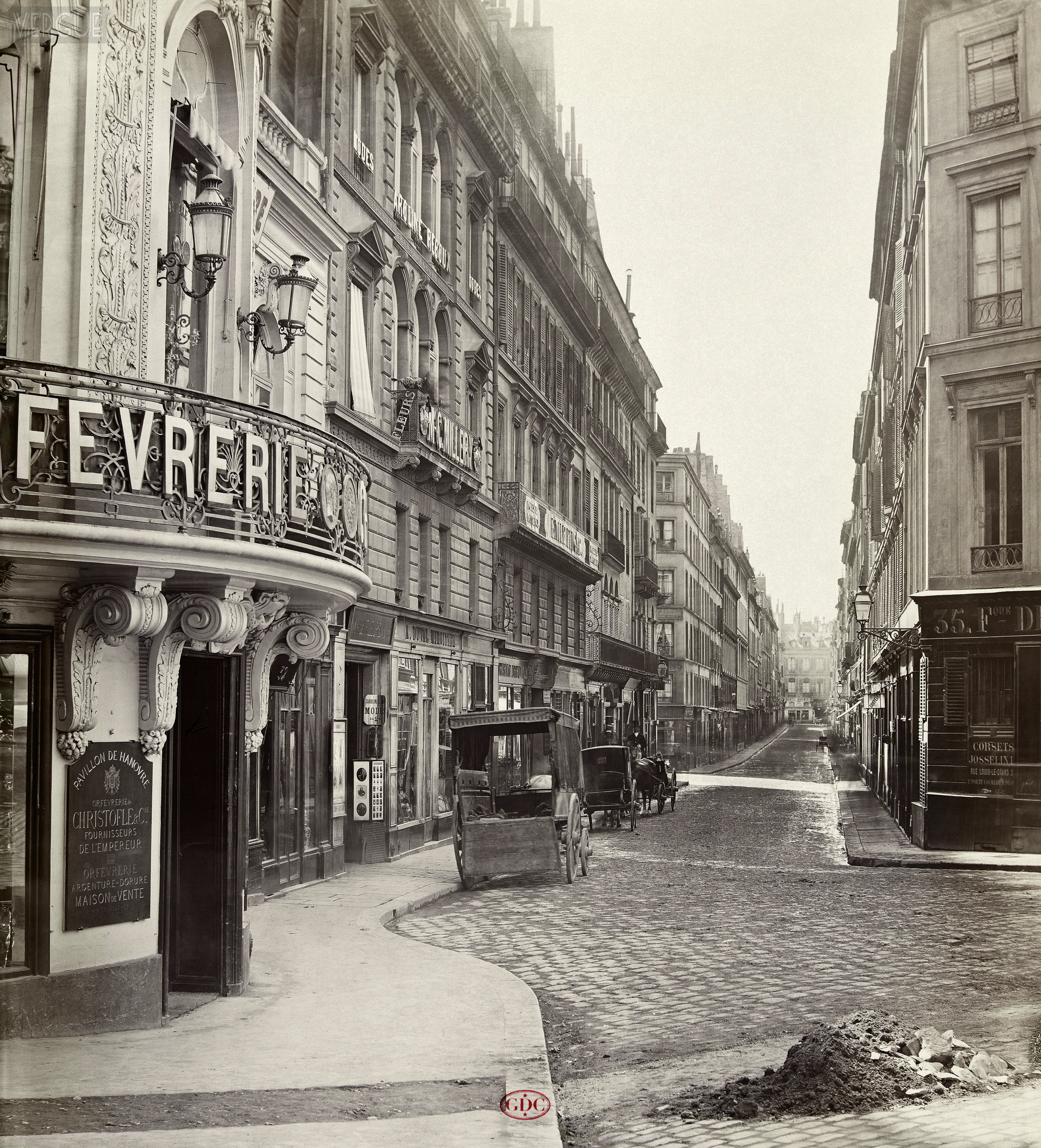 Rue louis le grand c 1866 vergue for 104 rue du jardin paris