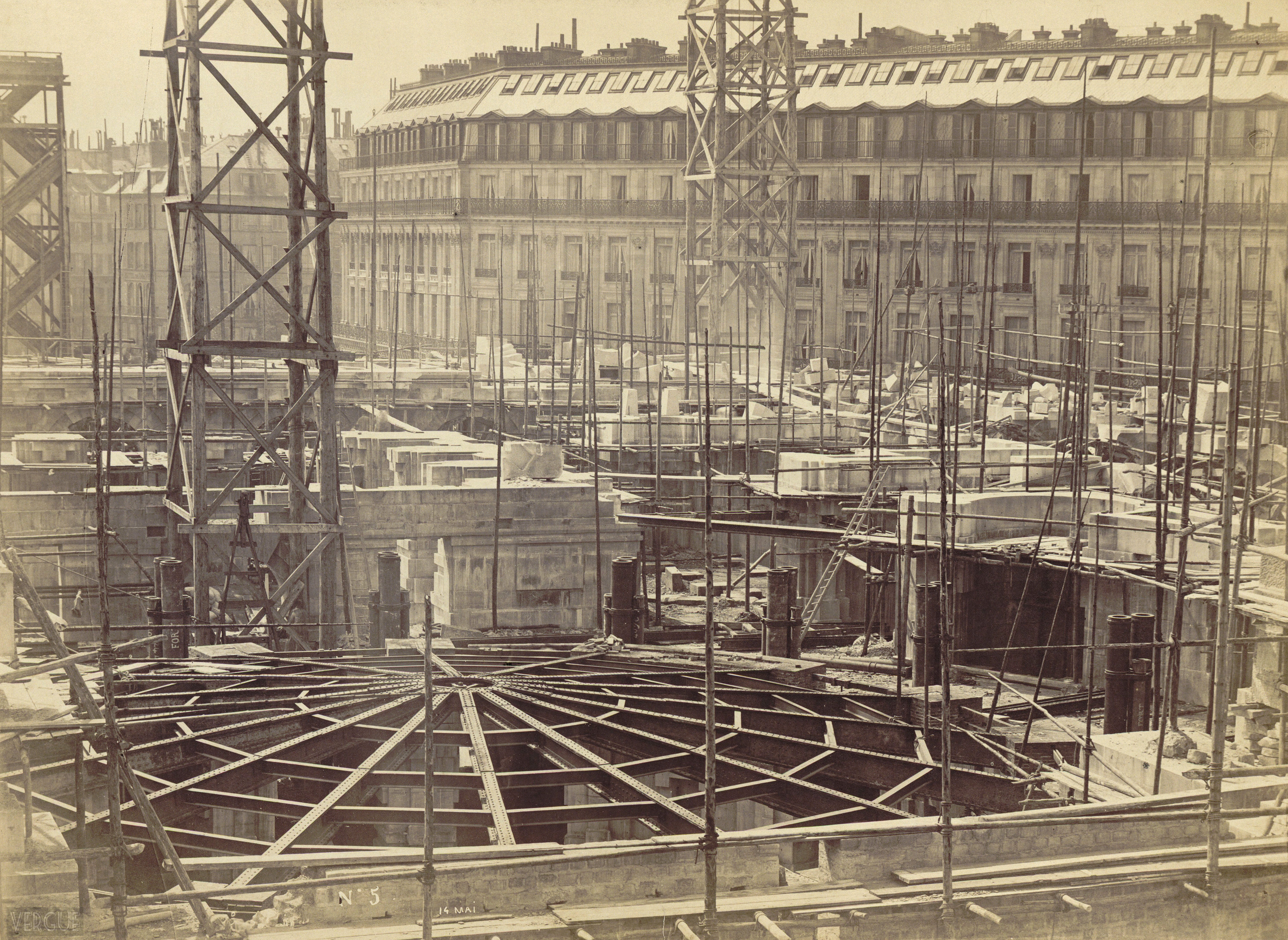 Construction De L Op 233 Ra Mai 1864 Vergue
