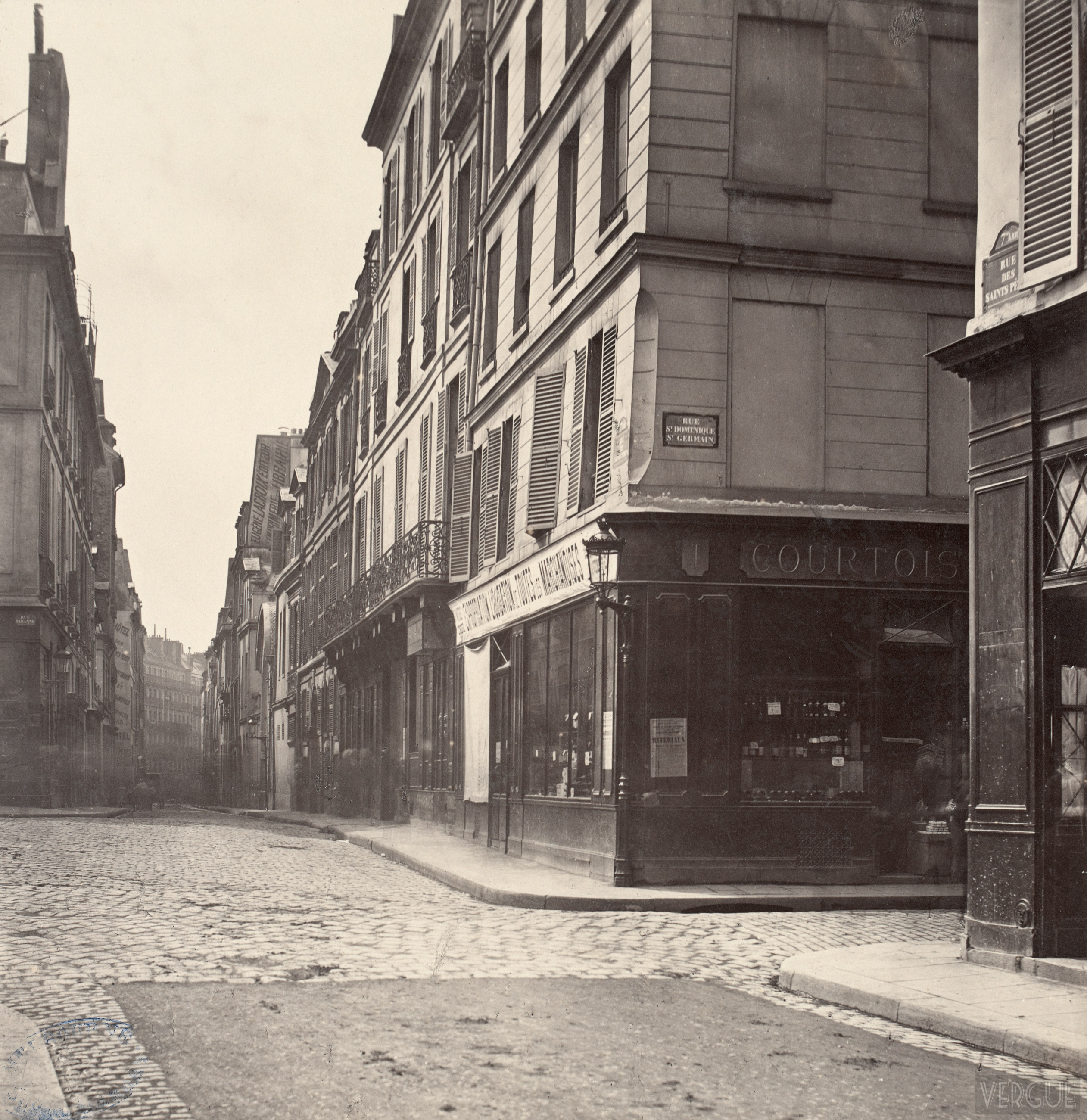 Rue des saint p res c 1877 vergue for Carrelage du sud boulevard saint germain